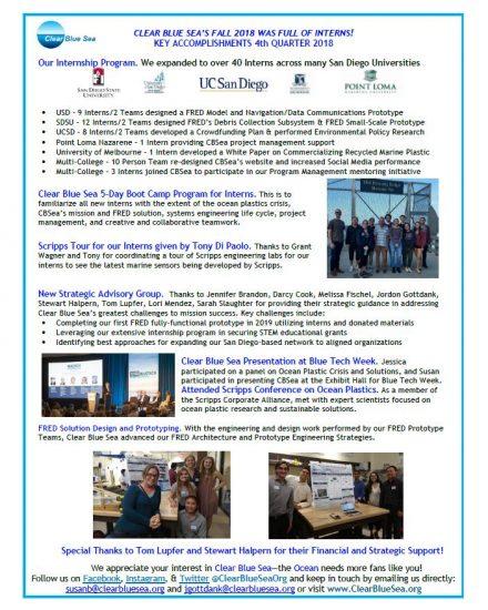 CBSea Newsletter 4th Qtr 2018